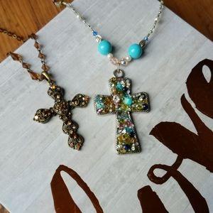 💕 Bundle of Cross Necklaces